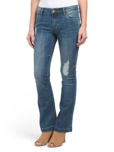 Petite Chrissy Flare Jeans