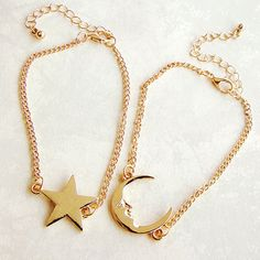 Moon and Star Best Friends Bracelets