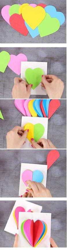 (478) Inoreader - Tarjeta Corazon Pop Up 3D Arcoiris Pop Up, Postcards, Kitten Heels, Ideas, Popup, Thoughts, Greeting Card