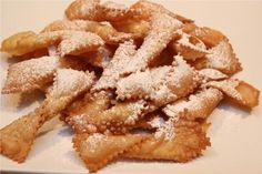 Chiacchiere Baresi, an Italian cookie my grandmother made when I was a child, they were so good and I have been searching for the recipe for many years.