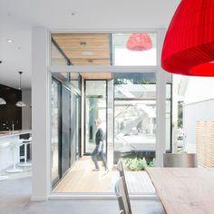 New Edinburgh Project - modern - entry - ottawa - Christopher Simmonds Architect Minimalist House Design, Minimalist Interior, Minimalist Home, Modern House Design, Modern Entry, Rustic Modern, Modern Living, Rustic Wood, Interior Architecture