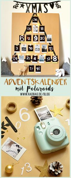 Polaroid Adventskalender selber basteln A cool advent calendar made out of Polaroid / Instax pictures. Printable Christmas Cards, Diy Christmas Cards, Printable Cards, Cool Advent Calendars, Diy Advent Calendar, Calendar Ideas, Birthday Present Diy, Good Birthday Presents, Diy Birthday