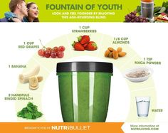 Fountain of Youth green juice smoothie