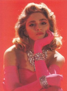 Madonna in Material Girl music video, 1984