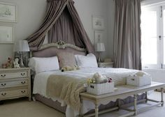 romantic bedroom love this styling. Pop of colour to add: lemon or pale blue