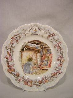 """Brambly Hedge, """"Winter"""" plate by Royal Doulton"""