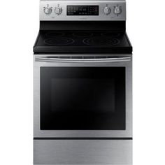 Samsung 30 in. 5.9 cu. ft. Electric Range with Self-Cleaning Convection Oven in…