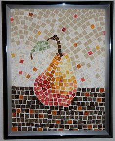 Items similar to Fabric Mosaic Art Quilt of a Pear - Framed on Etsy Paper Mosaic, Mosaic Art, Thread Art, Medieval Art, Illustrations And Posters, Fabric Paper, Art Lessons, Modern Art, Artsy