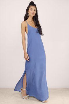 Blue Meet Your Match Maxi Dress at $20 (was $50)