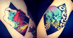 Australian-based artist Onnie O'Leary specialises in bold, block-colour tattoos.