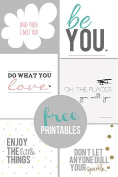 Free Printables by Home Coming, via Flickr