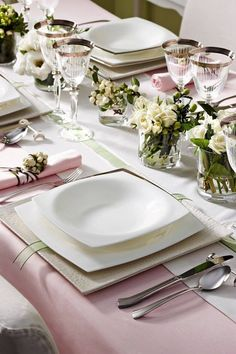 soft and pretty spring table
