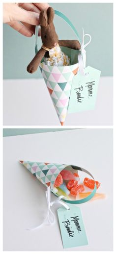 Such a sweet printable paper treat basket for May Day or Mother's Day | Smallful