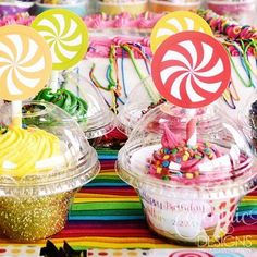 Single cupcake package for Candy-colored Cupcakes