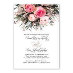 Ethereal Garden - Rose Gold - Foil Invitation