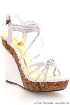#love #white #wedges #shoes