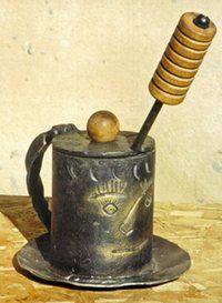 Blacksmith fire starter and holder
