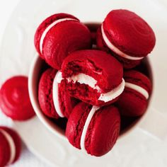 food, red, and macaroons image - Rot Red Velvet Macaroons, Vintage Quotes, Aesthetic Food, Aesthetic Quote, White Aesthetic, Maroon Aesthetic, Makeup Aesthetic, Aesthetic Themes, Character Aesthetic