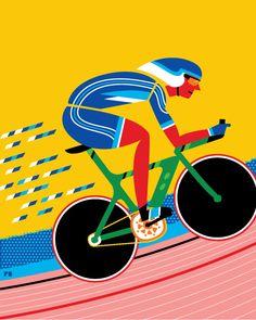 cyclist illustration - Google Search