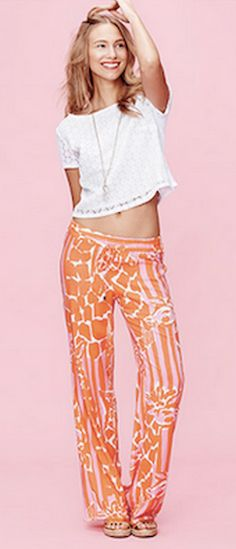 fun pants from the Lilly Pulitzer for Target line