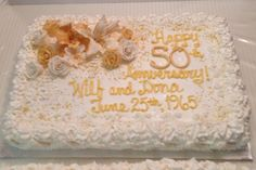 50th Wedding Anniversary Sheet Cakes | Anniversary Cakes ...