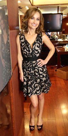 Giada De Laurentiis -- Dress: Sea New York Shoes: Mui Mui Ring: Pomellato Earrings: Nak Armstrong Casino Royale Dress, Casino Dress, Casino Outfit, Night Outfits, Dress Outfits, Dress Up, Outfit Night, Lace Dress, Food Network Star