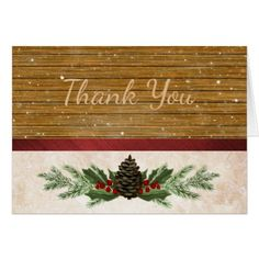 Rustic Country Thank You Card - Xmascards ChristmasEve Christmas Eve Christmas merry xmas family holy kids gifts holidays Santa cards