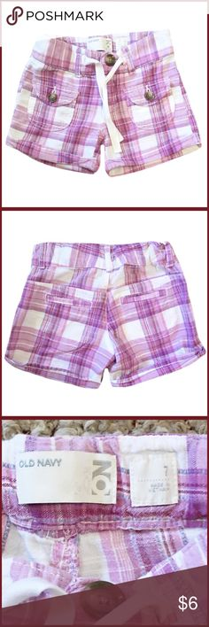 Old Navy Size 7 Purple Plaid Shorts ◾️Gently used Old Navy girl's size 7 purple plaid shorts Old Navy Bottoms Shorts