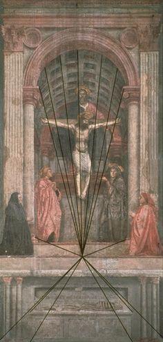 6. La Trinidad de Masaccio, Santa María de Novella (1426-1428).