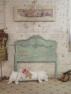 Painted Cottage Chic Shabby Aqua