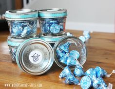 How cute are these for shower favors something your guests can baby boy shower thank you gift around 100 each solutioingenieria Image collections