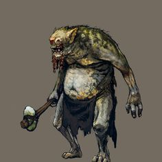 Witcher 3 Wild Hunt, The - artwork - Troll. Fantasy Rpg, Medieval Fantasy, Dark Fantasy, Fantasy Artwork, Troll, Witcher Art, The Witcher, Creature Feature, Creature Design