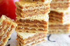 Napolitane umplute cu nuca - Retete culinare by Teo's Kitchen Cream Cheese Flan, Caramel, Sugar, Bread, Cookies, Chocolate, Desserts, Food, Salt Water Taffy