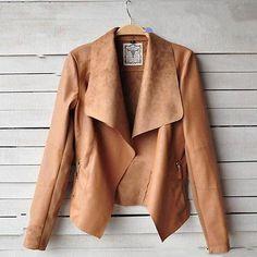 Autumn Long Sleeve Turn-Down Collar Leather Jacket http://bellanblue.com