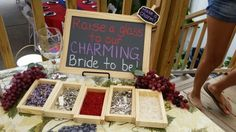 Bridal shower. Create a charm for your wine glass