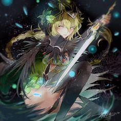 Anime Fantasy, Fantasy Art, Fantasy Characters, Anime Characters, Manga Art, Anime Art, Elsword Anime, Character Art, Character Design