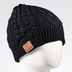 Tenergy Wireless Bluetooth Hands Free Beanie Cable Knit - Built-In Stereo Speakers and Microphone for Calls - A Thrifty Mom