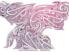 Maori tattoo ornament in ethnic Polynesian Koru style. Good for prints and backgrounds Tribal Background, Tattoo Background, Background Design Vector, Vector Design, Tribal Art Tattoos, Tribal Tattoo Designs, Make Tattoo, Tattoo Set, Free Vector Images