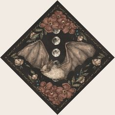 Bat Framed Art Print by Jessica Roux | Society6