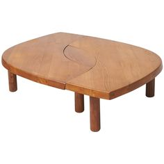 Pierre Chapo Model T22 or L'oeuil Coffee Table 1