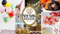 New Year Eve décor-New Year's Eve Party Decorations for a Dazzling 2020 New Years Eve Decorations, Paper Decorations, New Year Rangoli, Party Pops, Simple Rangoli, Rangoli Designs, Lets Celebrate, New Years Eve Party, Party Themes