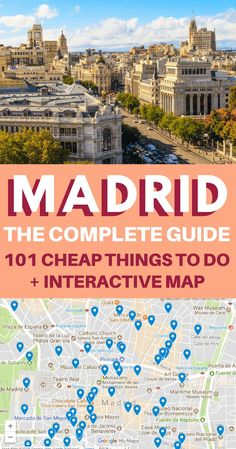 Madrid Travel Guide - Madrid is definitely a bucket list destination in Spain. With so many things to do in Madrid, where do you begin? Travel Europe Cheap, European Travel, Budget Travel, Bucket List Destinations, Travel Destinations, Madrid Guide, Bon Plan Voyage, Spain Travel Guide, Madrid Travel