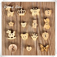 - Wood Buttons Natural Wooden Button Sewing And Scrapbooking Hot & Garden Wooden Name Plaques, Buy Wood, Wooden Gifts, Laser Cut Wood, Sewing A Button, Wood Crafts, Sewing Crafts, Embellishments, Cartoons