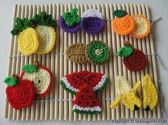 Ravelry: Crochet Pattern - FRUIT APPLIQUE 1 pattern by Sky Magenta