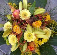 Svieža  žltá kombinácia, optimizmus a skvelá nálada, kytica pre krajší deň.