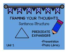 Writing Predicate Expanders: Framing Your Thoughts (Orton-Gillingham) Math Skills, Writing Skills, Life Skills, Parts Of A Sentence, Sentence Structure, Bridge To Terabithia, Similes And Metaphors, Bare Bone, Math Task Cards