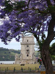 A Torre de Belém foi construída em homenagem ao santo patrono de Lisboa, S. Vicente, no local onde se encontrava ancorada a Grande Nau, que cruzava fogo com a fortaleza de S. Sebastião.   O arquitecto da obra foi Francisco de Arruda, que iniciou a construção em 1514 e a finalizou em 1520, ao que tudo indica sob a orientação de Boitaca. Como símbolo de prestígio real, a decoração ostenta a iconologia própria do Manuelino, conjugada com elementos naturalistas.