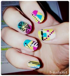 80's eighties nails