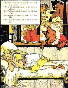 Walter Crane - Goldilocks and Three Bears Walter Crane, Goldilocks And The Three Bears, 3 Bears, American Gothic, Bear Pictures, Japanese Prints, Picture Collection, Children's Book Illustration, Childrens Books