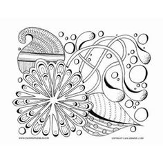Paisley and Flowers Coloring Sheet